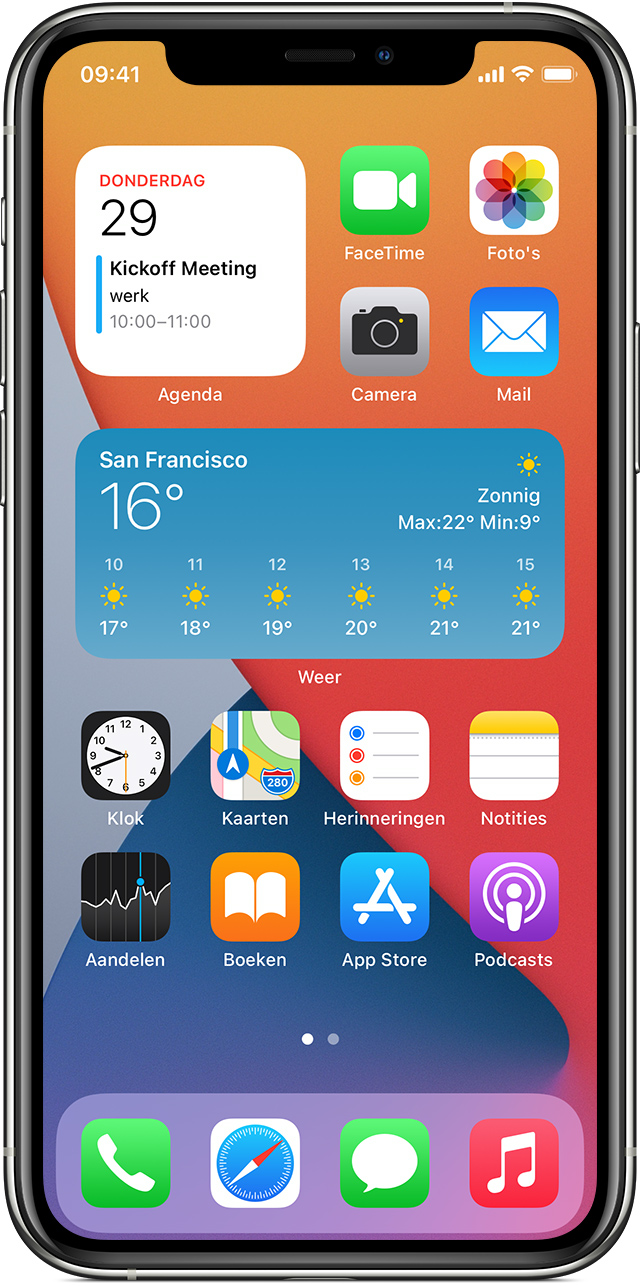 Widgets Gebruiken Op Uw Iphone En Ipod Touch Apple Support