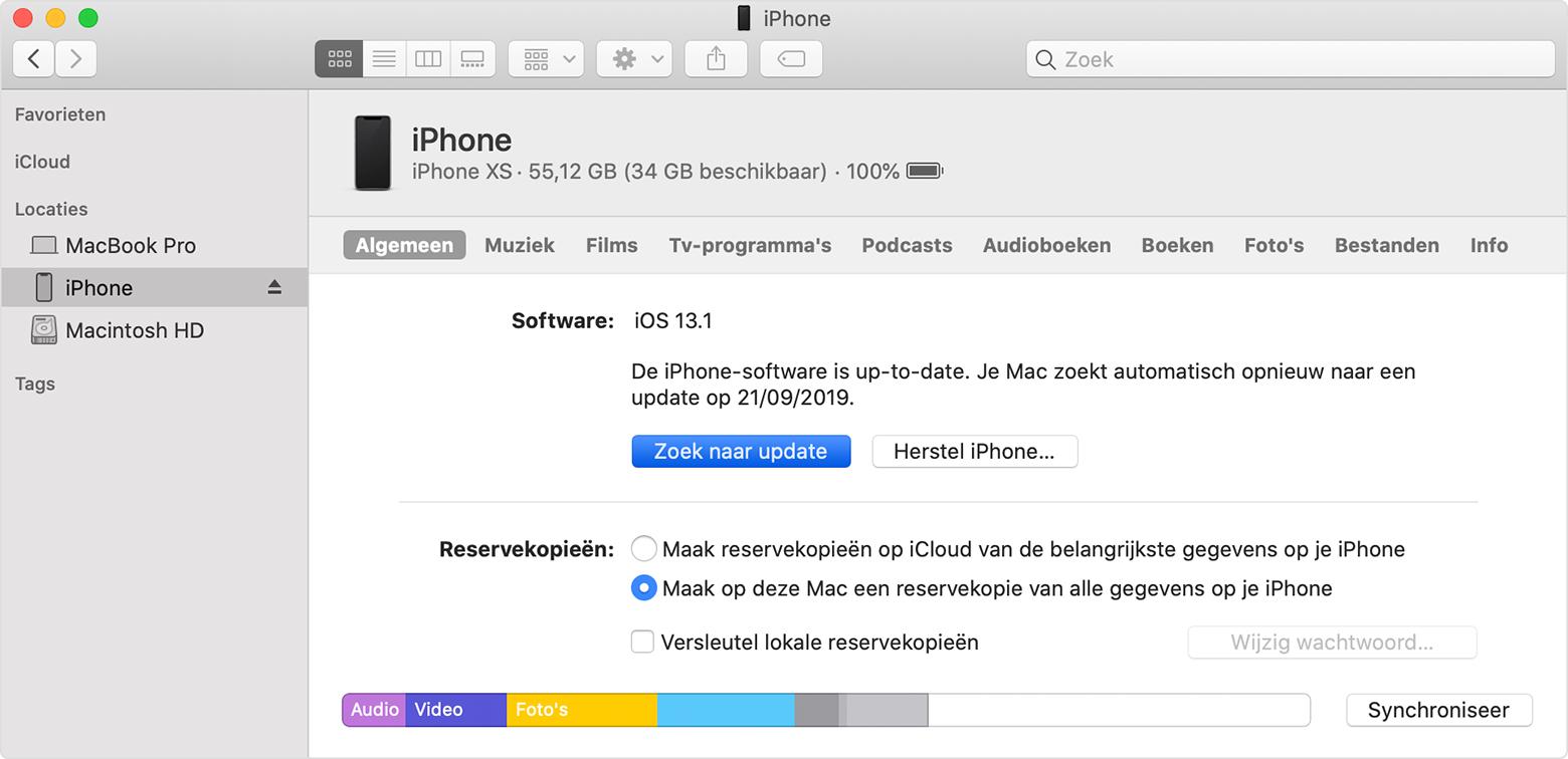 Uw Iphone Ipad Of Ipod Touch Bijwerken Apple Support