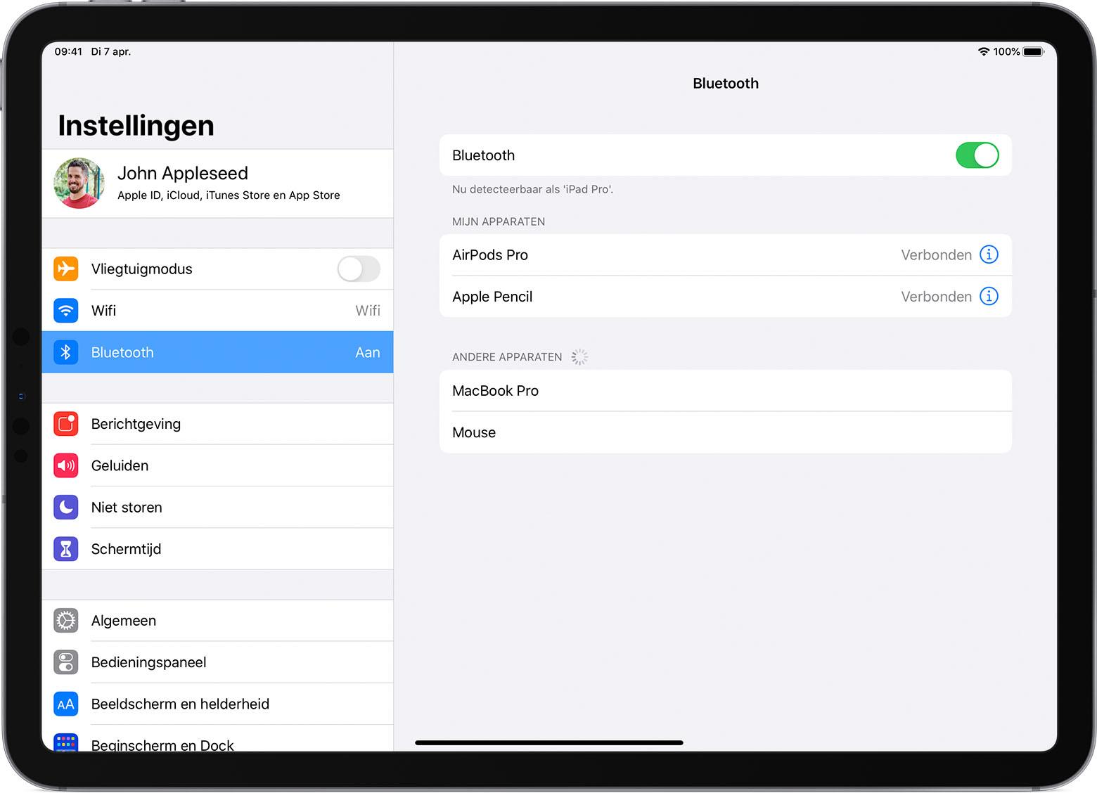 Een Bluetooth muis of trackpad met een iPad verbinden