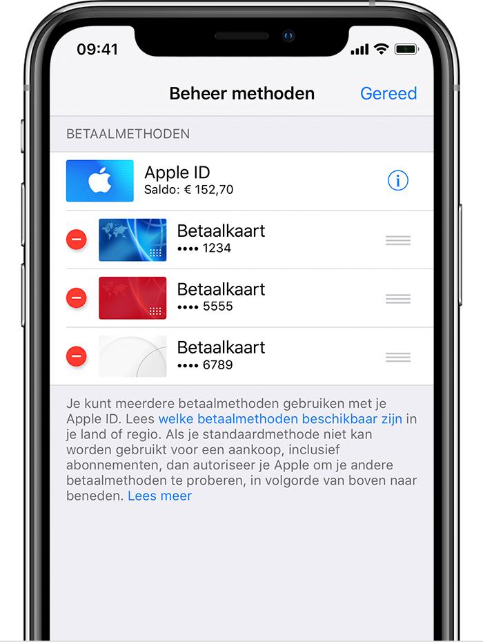 82eb09b624a8c0 Apple ID-betaalmethoden wijzigen, toevoegen of verwijderen - Apple ...