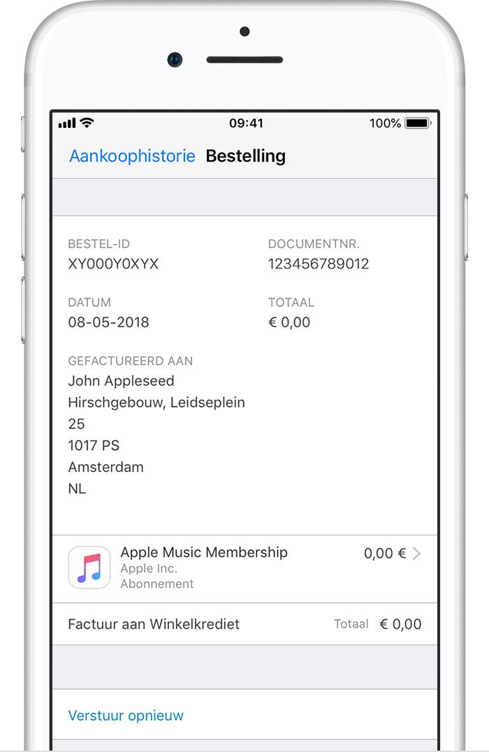 Uw aankoopgeschiedenis in de App Store of iTunes Store bekijken
