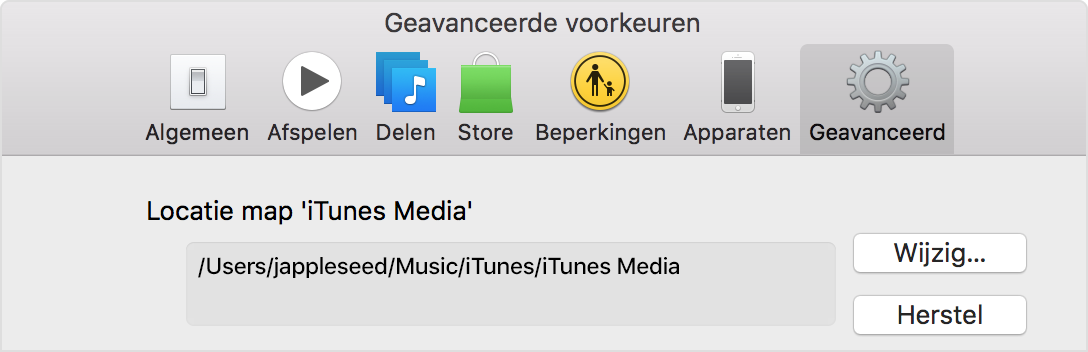 how to change the location of an itunes movie
