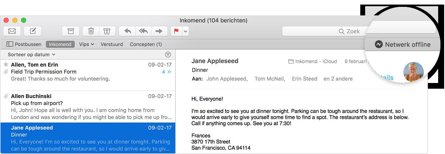05588e41c66933 Als u op de Mac geen e-mail kunt versturen of ontvangen - Apple Support