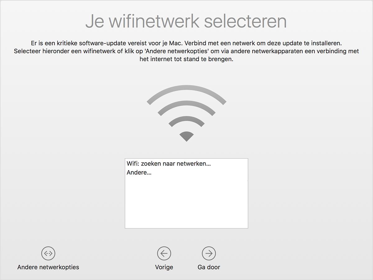 15efbbe23ee6e9 Nadat u macOS hebt bijgewerkt, of als u de Mac hebt geconfigureerd nadat u  de EFI-partitie van de schijf hebt gewist, ziet u mogelijk dit bericht op uw  ...