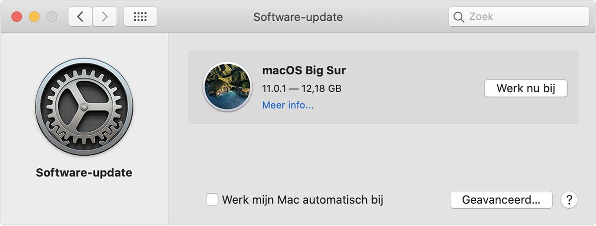 Voorkeuren voor software-updates