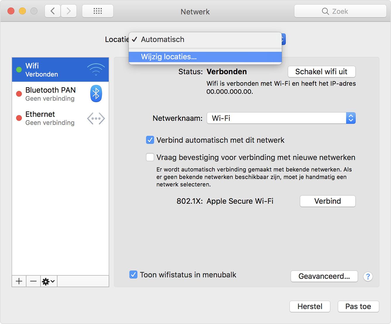 Netwerklocaties Gebruiken Op De Mac Apple Support