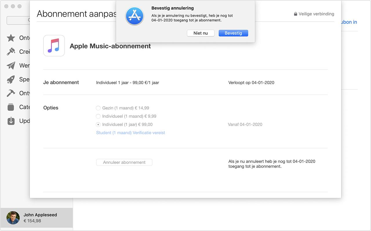 Abonnementen Bekijken Wijzigen Of Opzeggen Apple Support