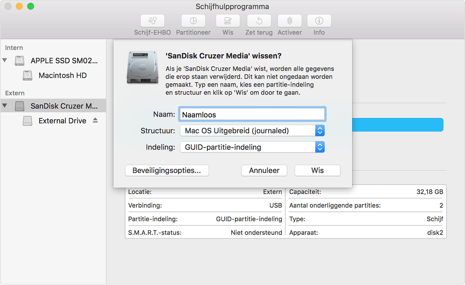 Een externe mac opstartschijf configureren en gebruiken apple support - Een verwijderbare partitie maken ...