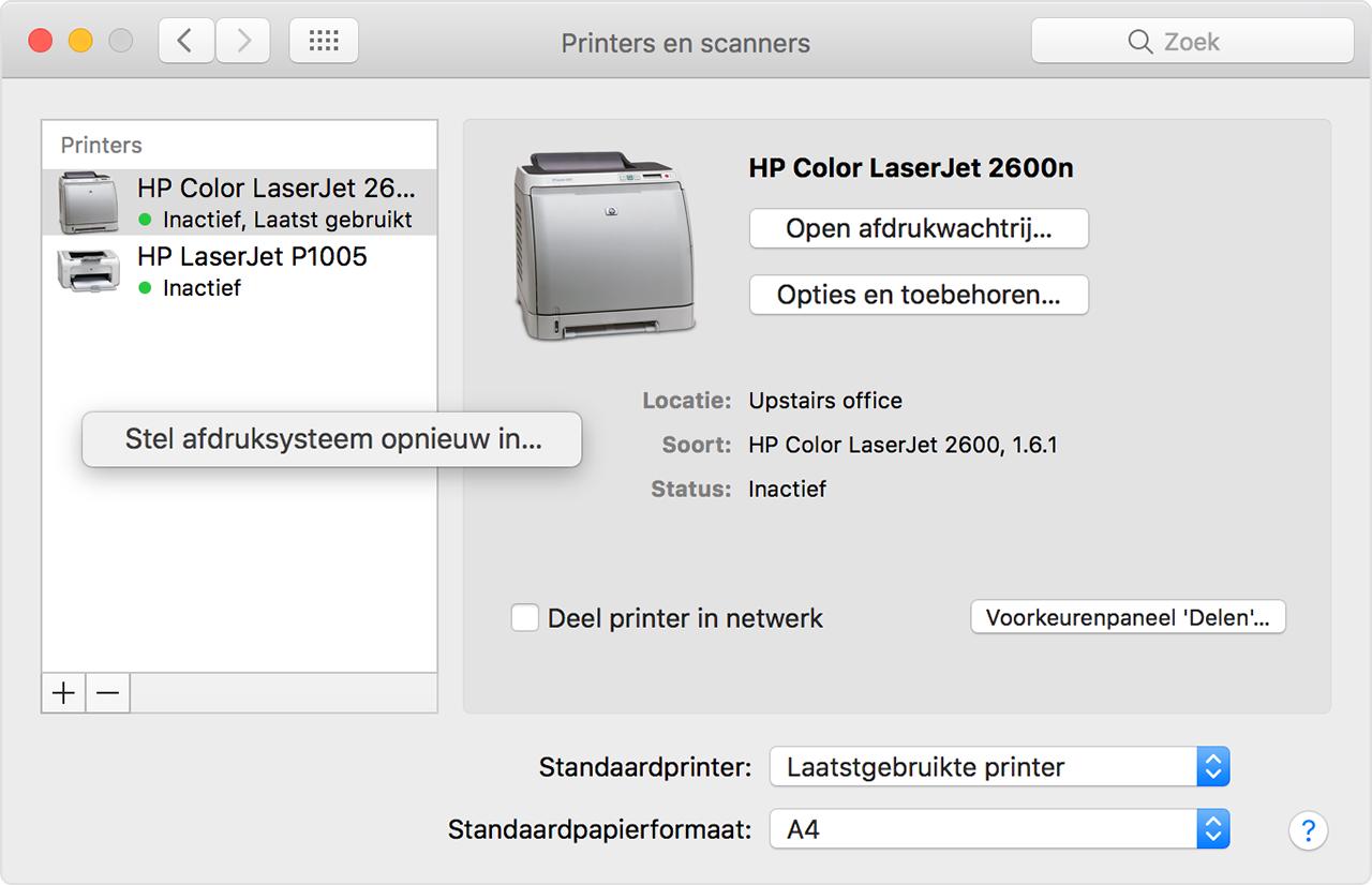 Als U Niet Kunt Afdrukken Vanaf Uw Mac Of Ios Apparaat