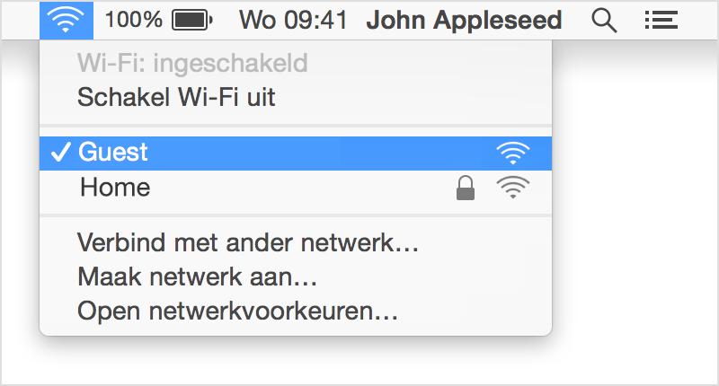 De Wi Fi Verbinding Op Een Mac Beheren Apple Support