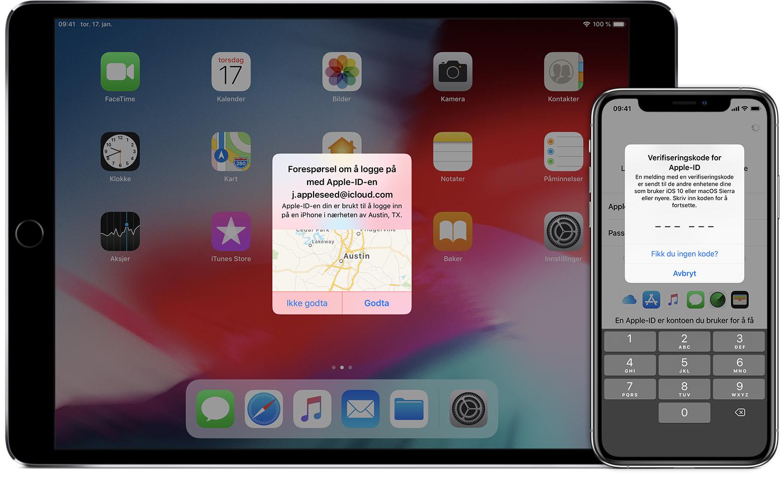 4433a782 Tofaktorautentisering for Apple-ID - Apple-kundestøtte