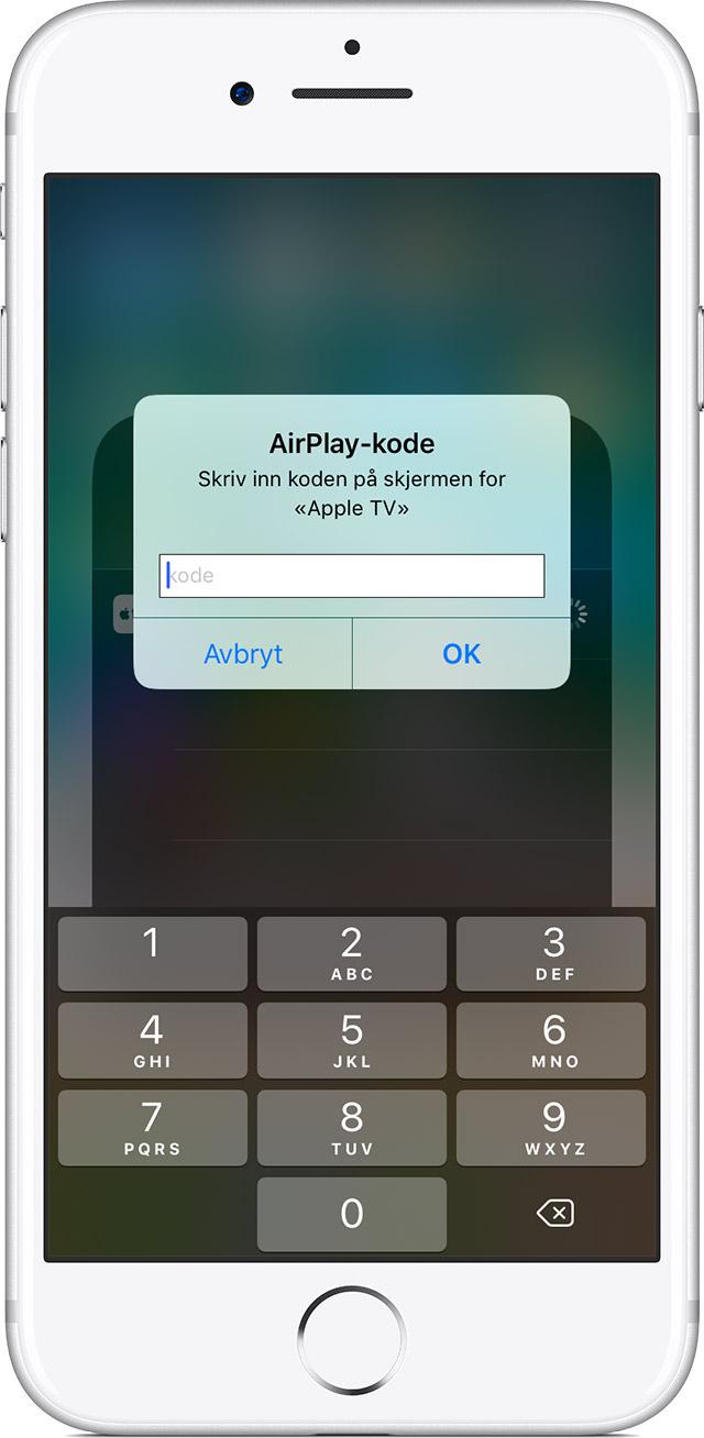 Bruk AirPlay eller Like skjermer på iPhone, iPad eller iPod touch - Apple-kundestøtte