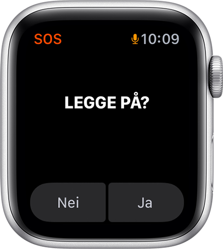 Avslutt samtale-alternativet på Apple Watch.