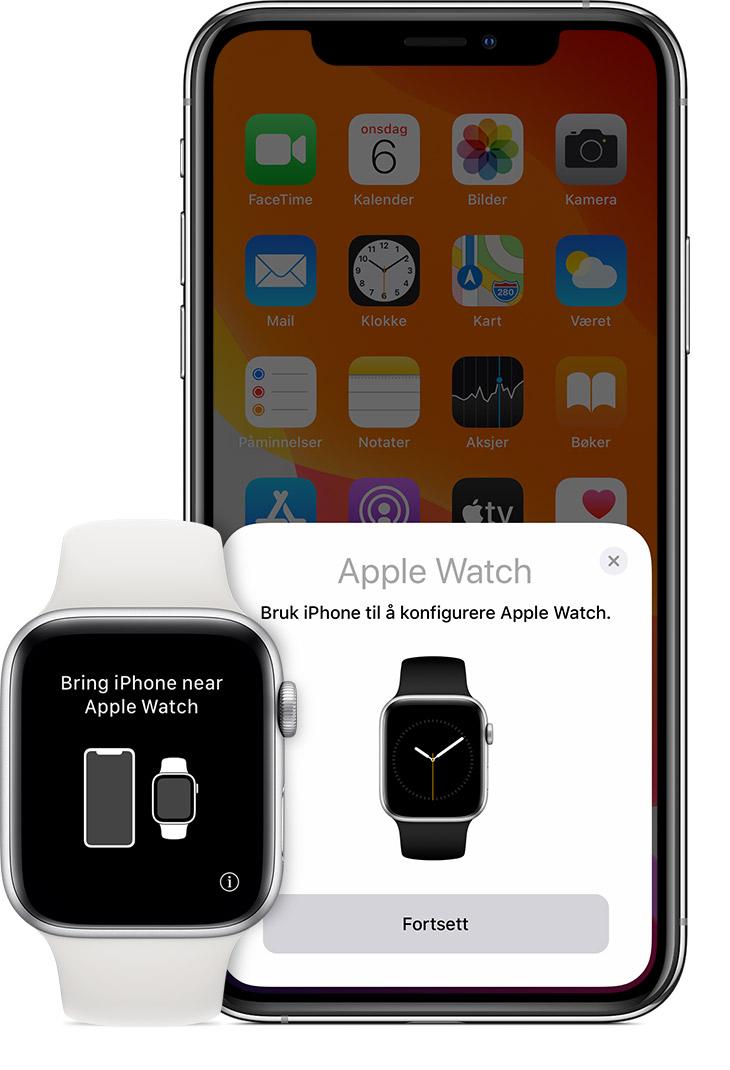 Konfigurer Apple Watch Apple kundestøtte
