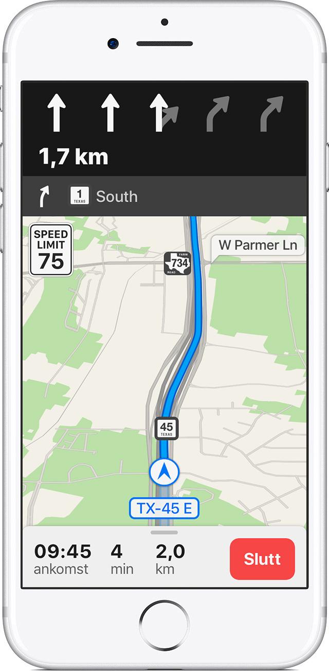 kart sverige veibeskrivelse Bruk Kart på iPhone, iPad eller iPod touch   Apple kundestøtte kart sverige veibeskrivelse