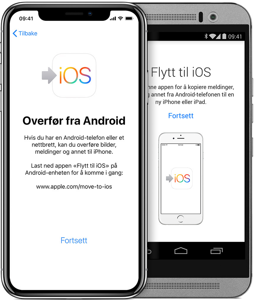 Flytte fra Android til iPhone, iPad eller iPod touch Apple