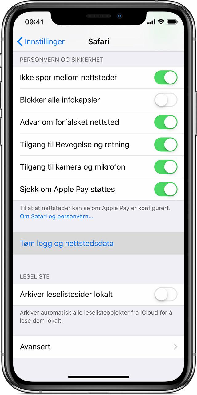 6dd0158d4 Fjerne logg og informasjonskapsler fra Safari på iPhone, iPad eller ...