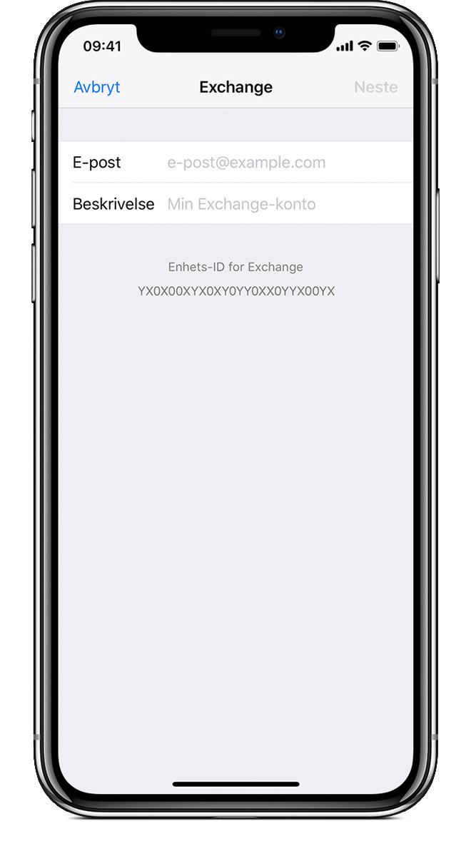 8203f307 Konfigurer Exchange ActiveSync på iPhone, iPad eller iPod touch ...