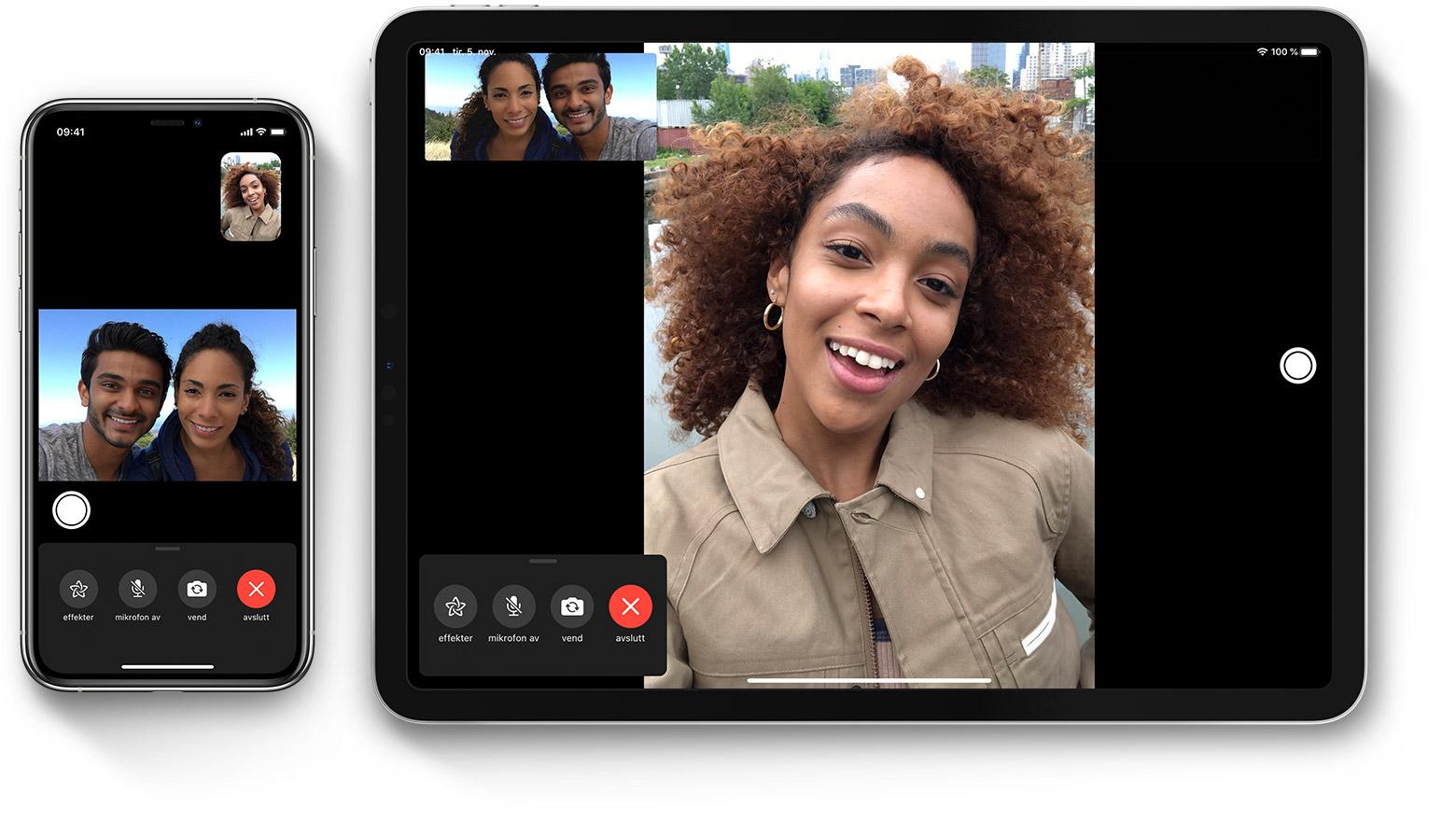 Bruk gruppesamtaler i FaceTime på iPhone, iPad og iPod touch