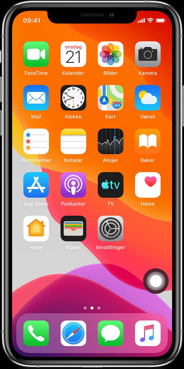 Hvis symbolene på Hjem skjermen på iPhone, iPad eller iPod