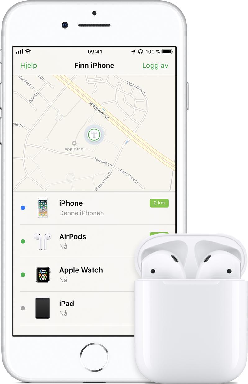 finn posisjon på kart Hvis du har mistet AirPods   Apple kundestøtte finn posisjon på kart