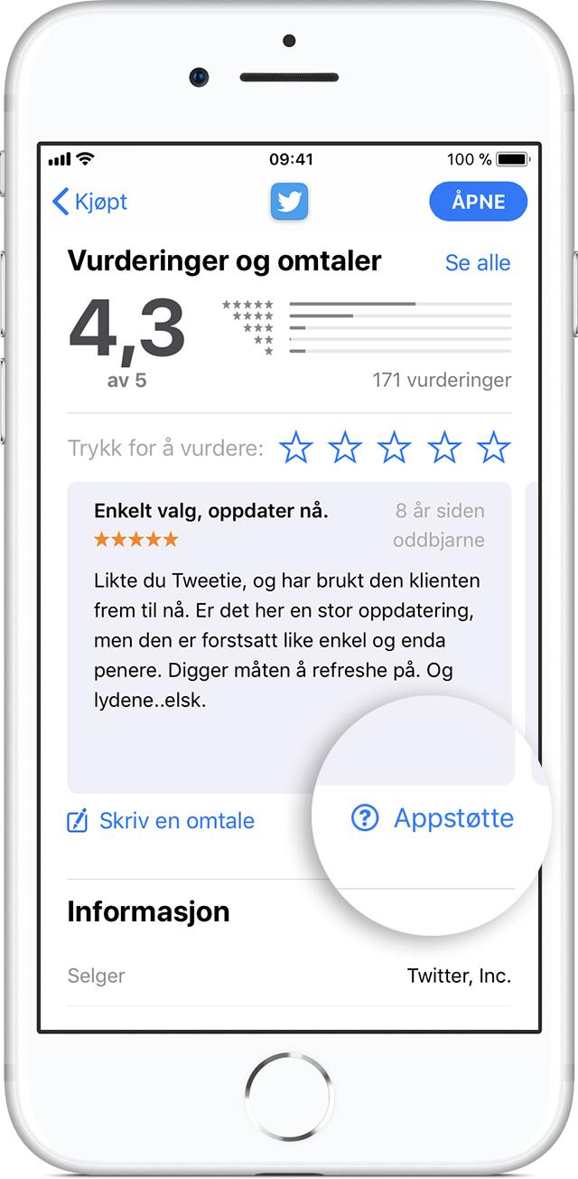 ingen forbindelse til app store