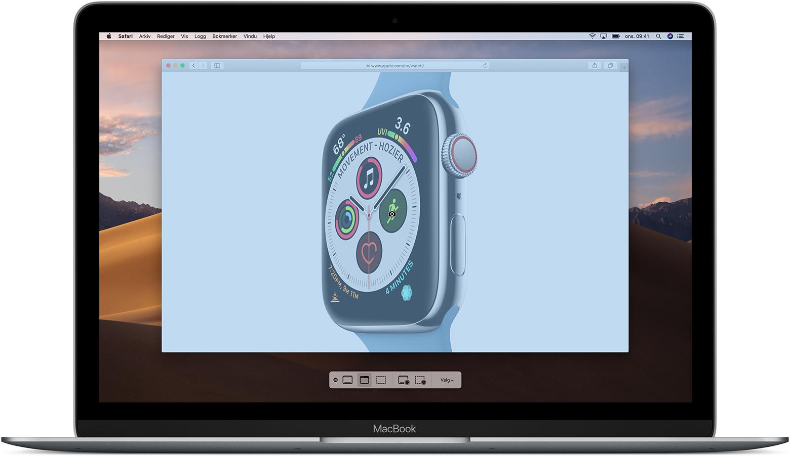 hvordan ta print screen på mac