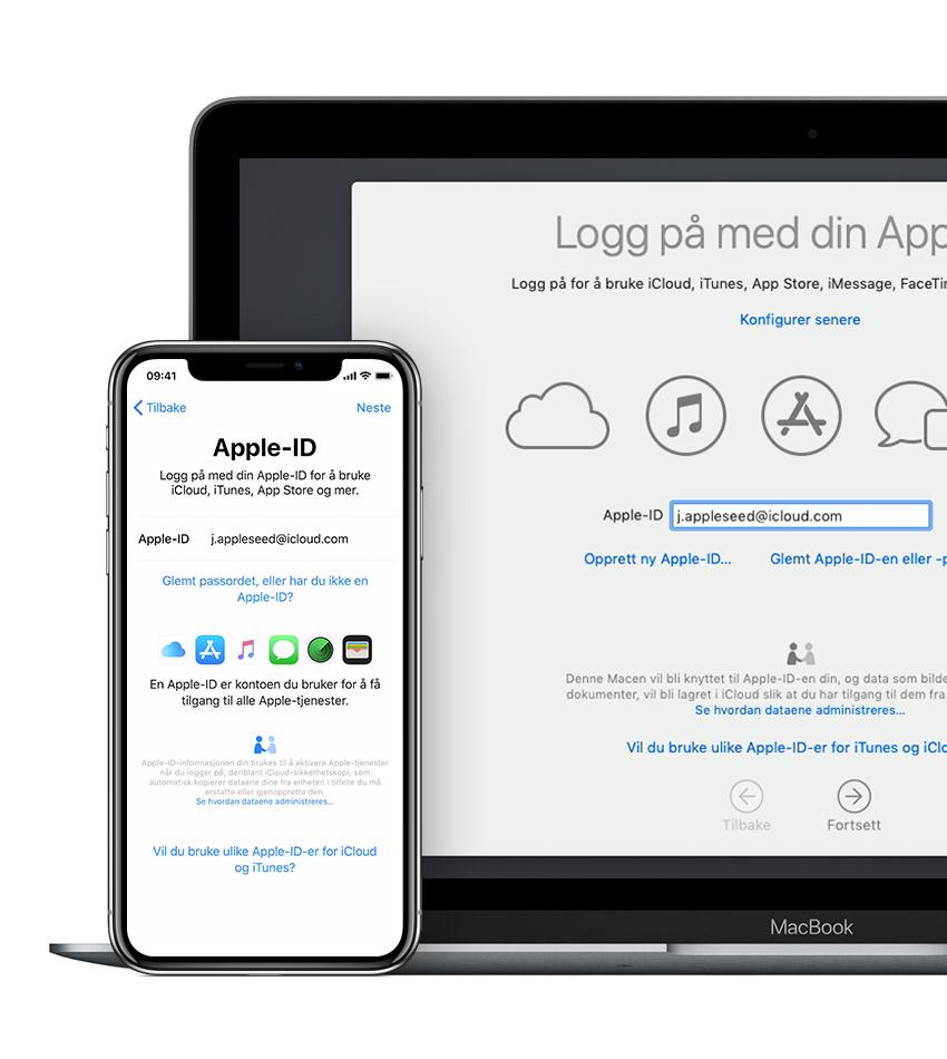 1360e7ba Logg på med Apple-ID - Apple-kundestøtte