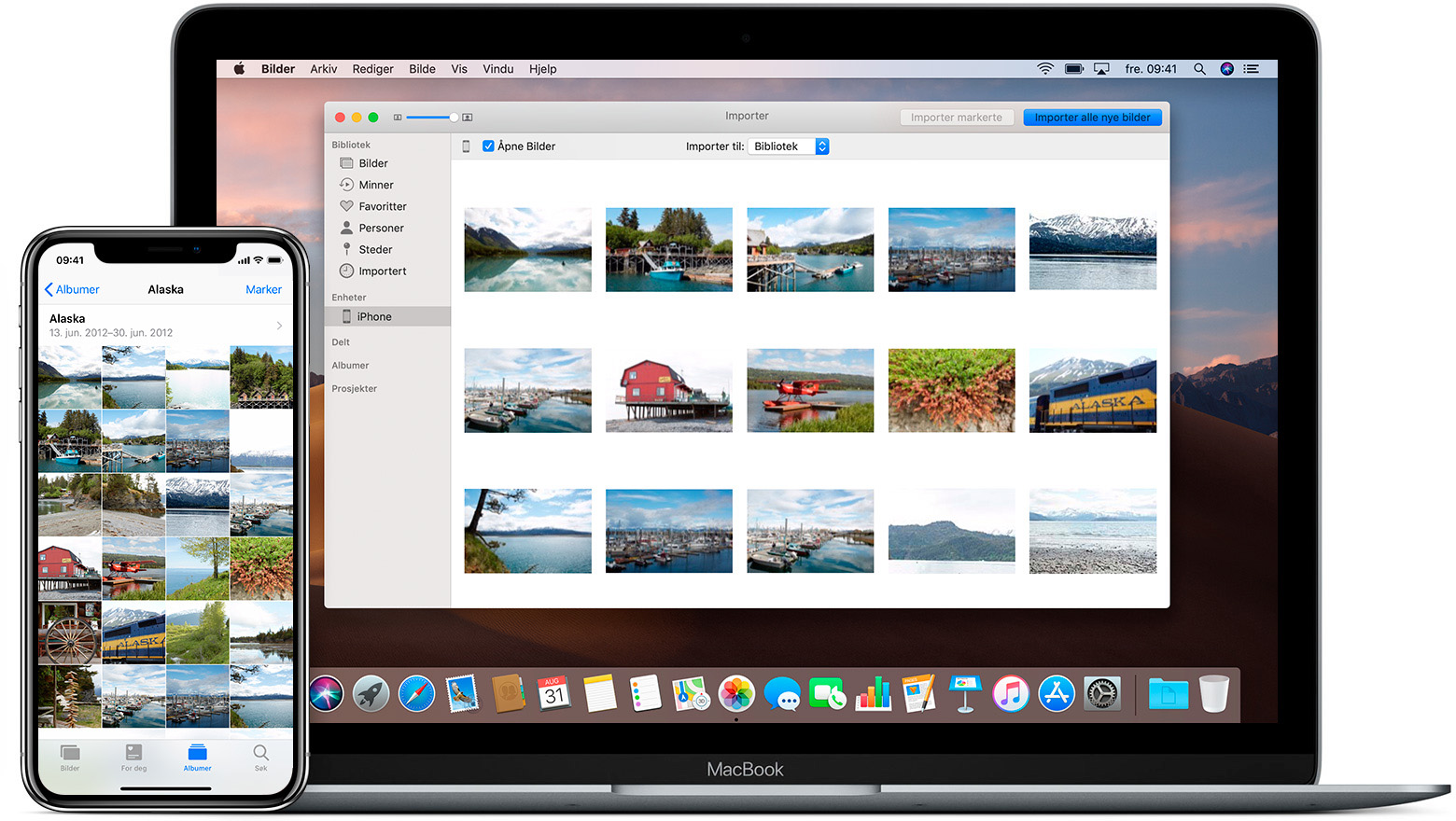 Bilder-appen på iPhone og Mac