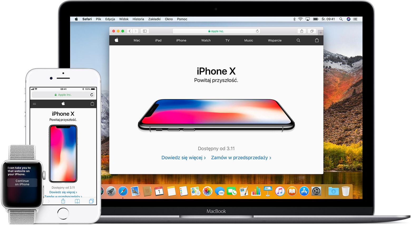 Łączenie komputera Mac, telefonu iPhone, iPada, iPoda ...