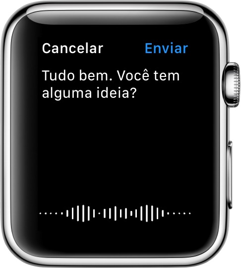 Mensagens ditadas no Apple Watch