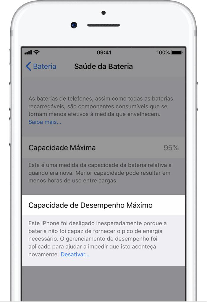 85f1ffa5f58 Bateria e desempenho do iPhone - Suporte da Apple
