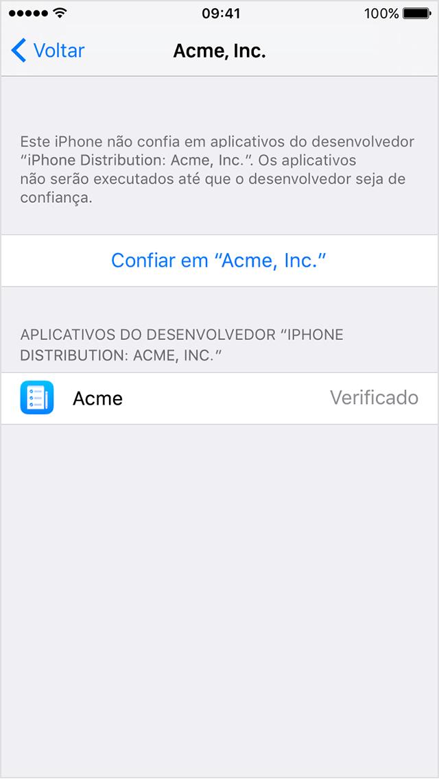 Instalar apps empresariais personalizados no iOS - Suporte