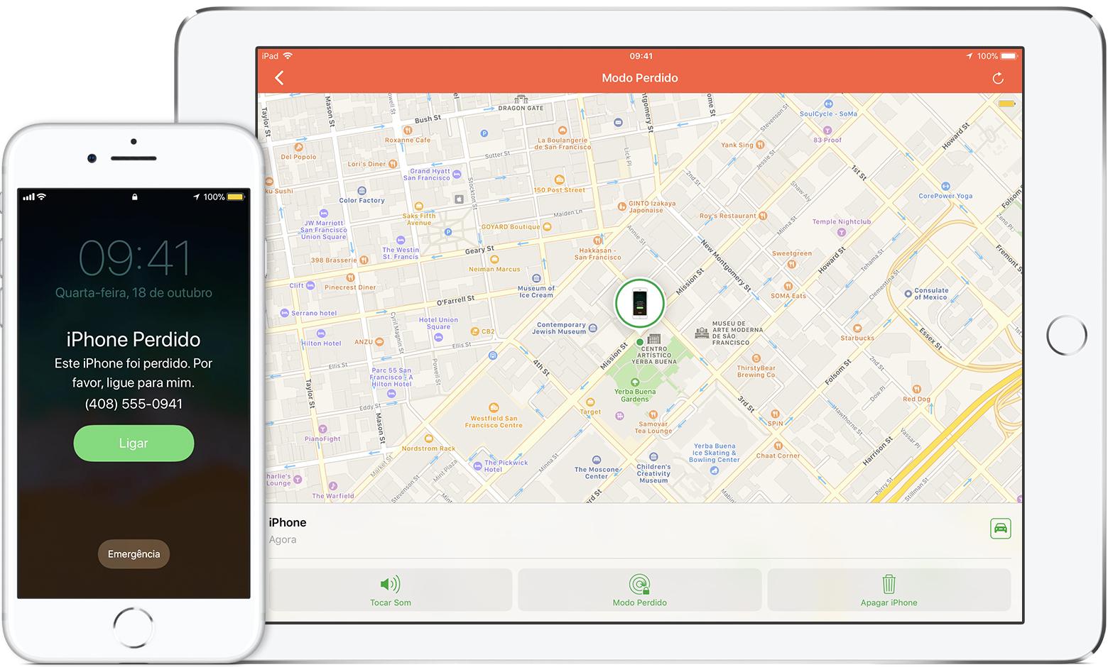 Em primeiro lugar, mantenha a ferramenta Buscar iPhone ativada no dispositivo