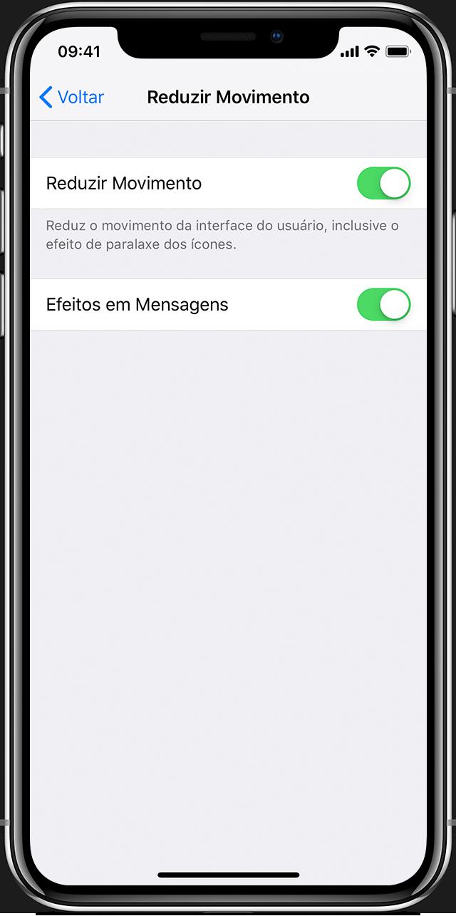 reduzir movimentos da tela do iphone ipad ou ipod touch suporte da apple. Black Bedroom Furniture Sets. Home Design Ideas