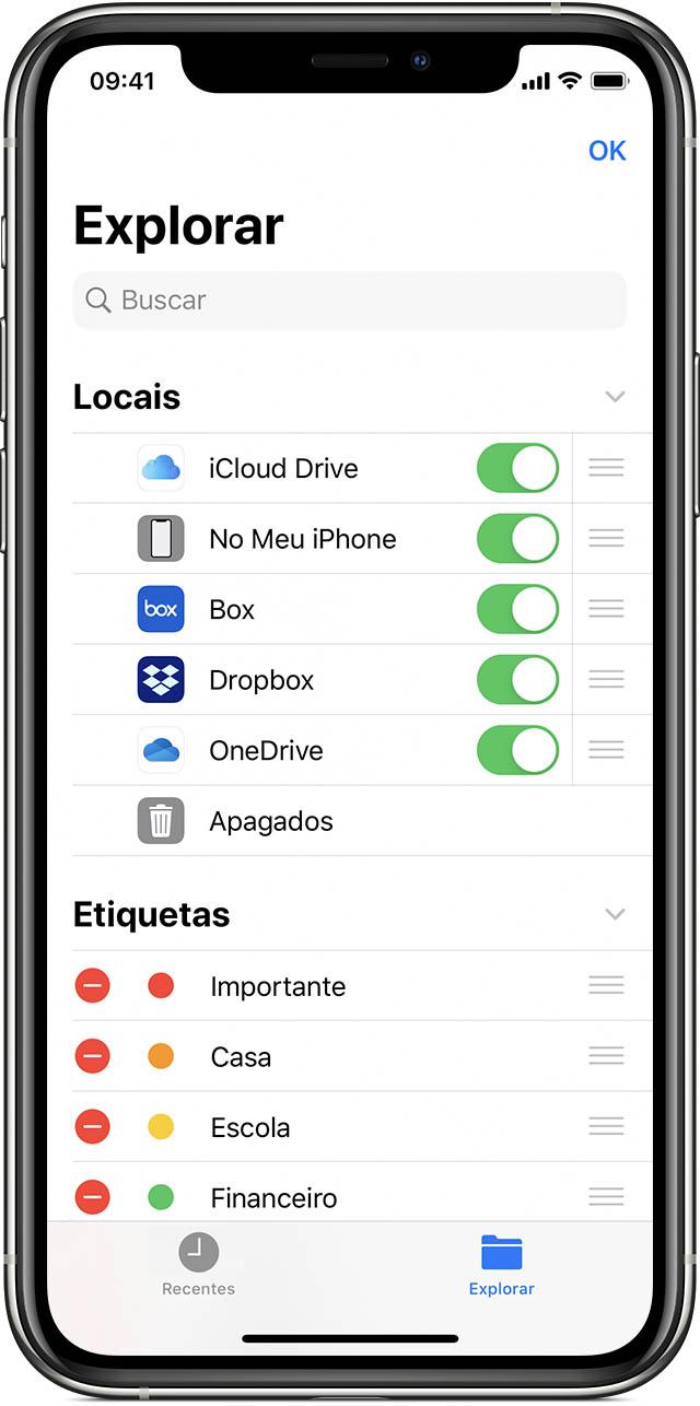 Usar o app Arquivos no iPhone, iPad e iPod touch   Suporte da ...