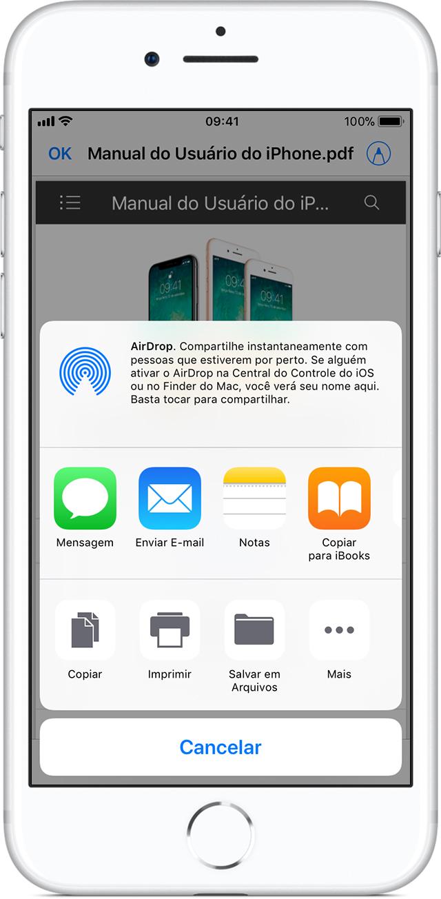 Usar documentos em PDF com o iBooks no iPhone, iPad ou