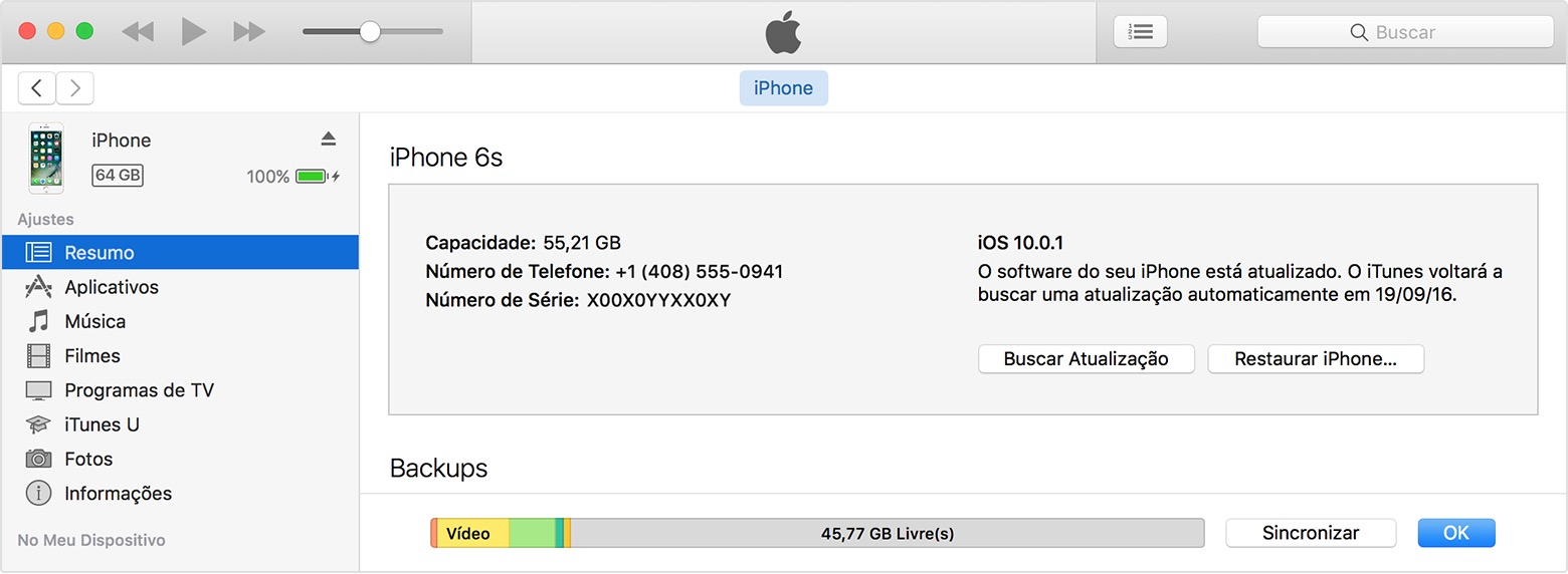 Restaurar iPhone no iTunes