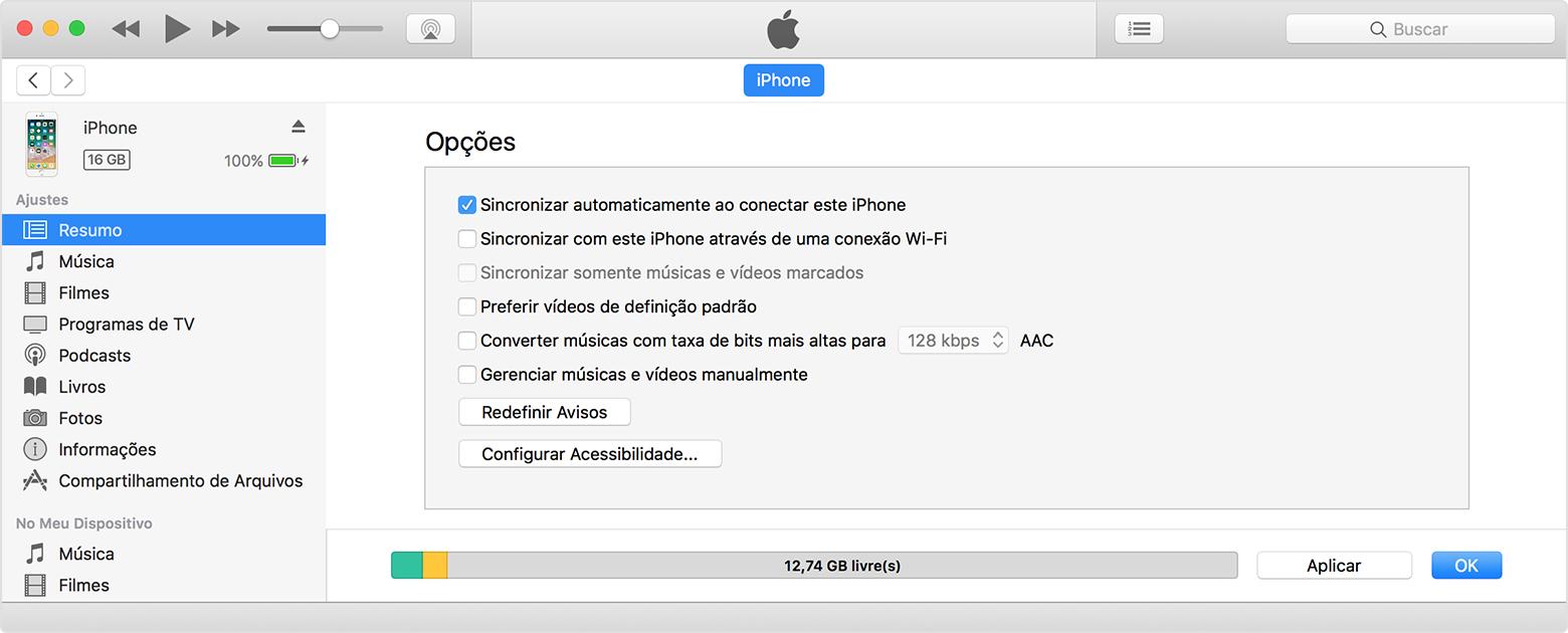 Sincronize o iphone ipad e ipod touch com o itunes usando uma rede na aba resumo selecione sincronizar com este dispositivo via wi fi stopboris Images