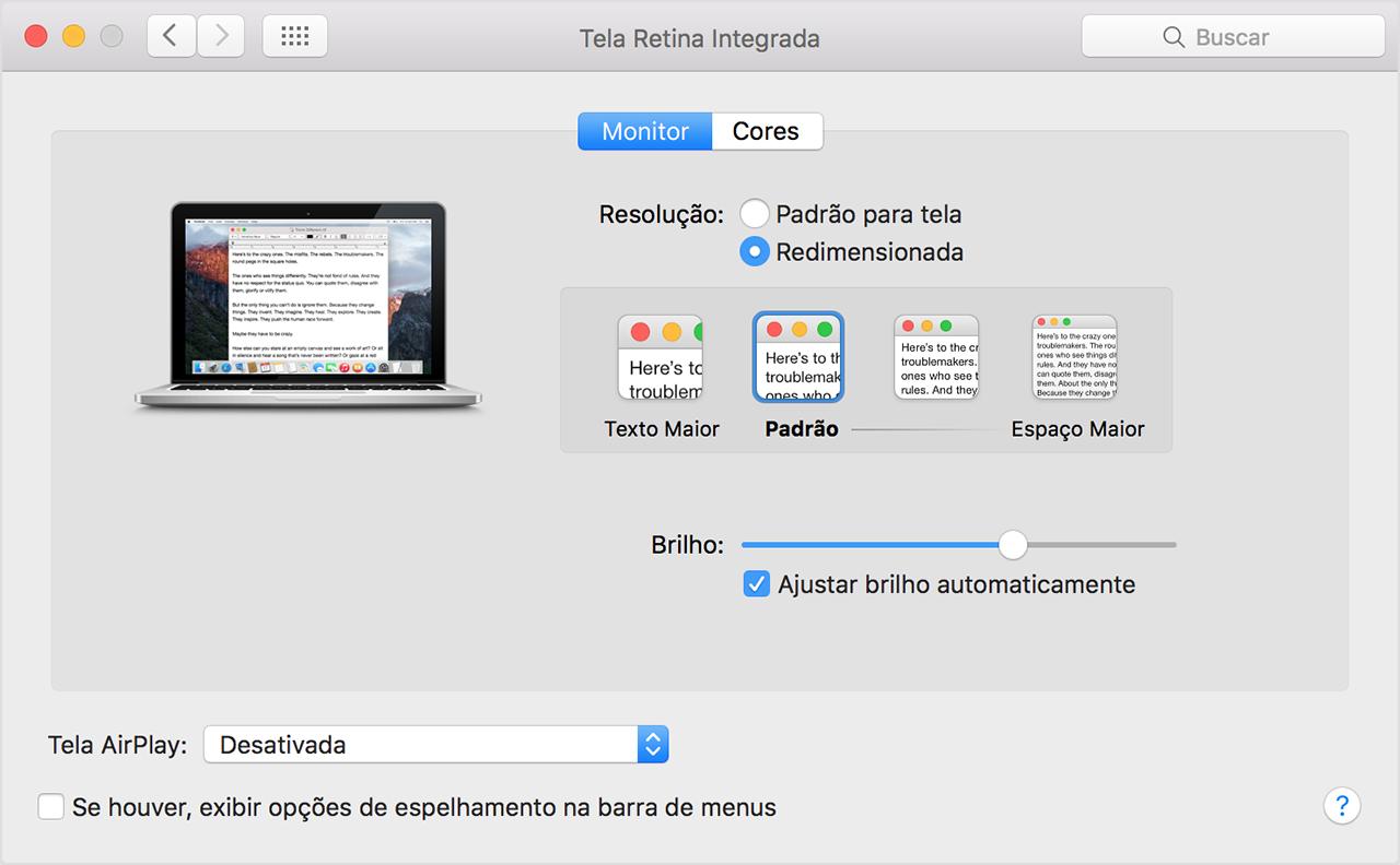 Como usar uma tela retina suporte da apple preferncias da tela retina ccuart Choice Image