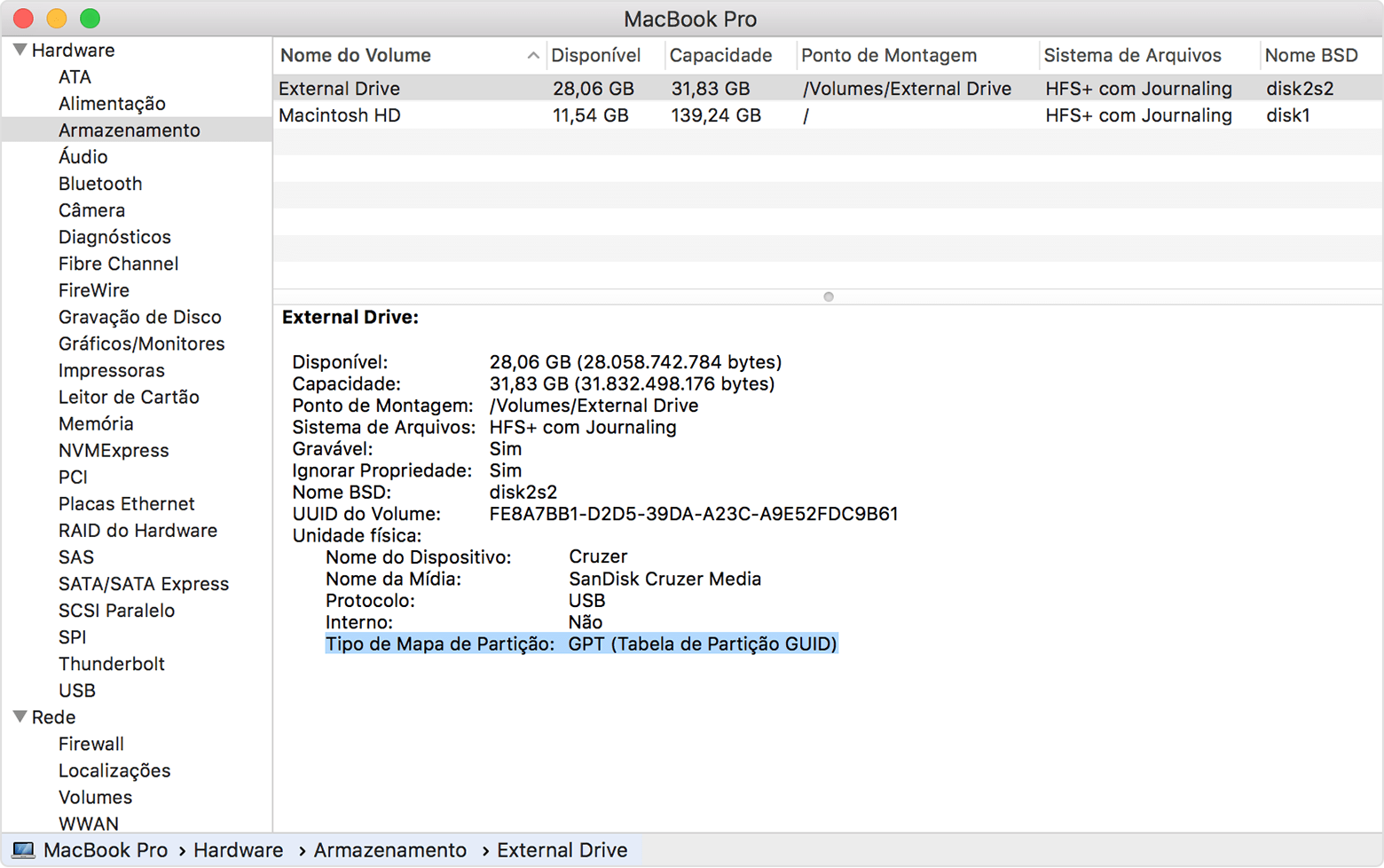 Arquivo carregado pelo usuário