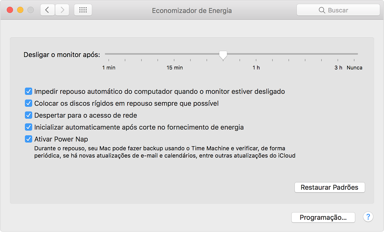 power nap mac el capitan