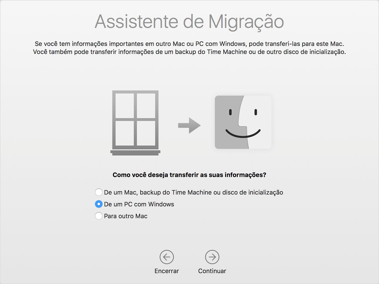 Mover os dados de um PC com Windows para o Mac - Suporte da Apple b61ea6f51673