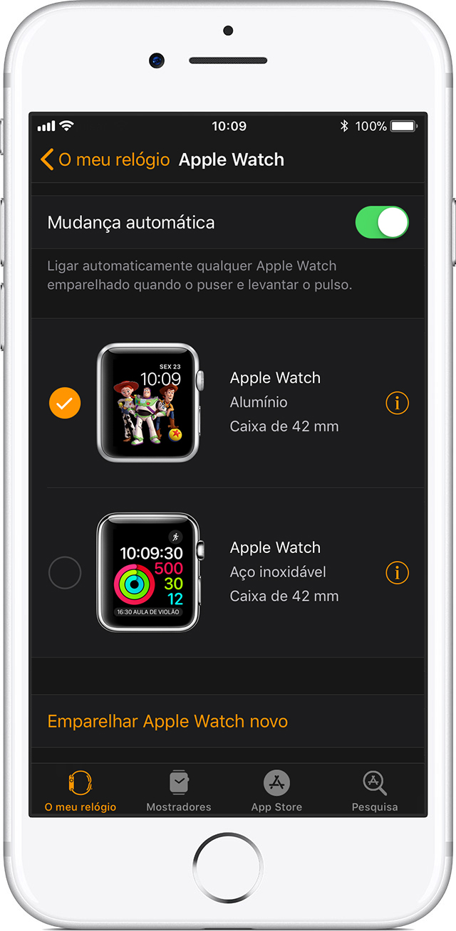 Definições do Apple Watch