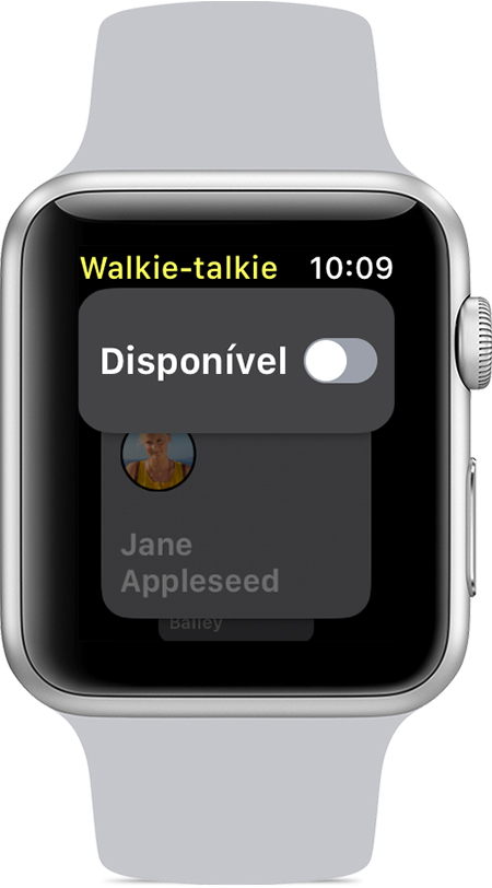 Disponibilidade desativada na app Walkie-Talkie