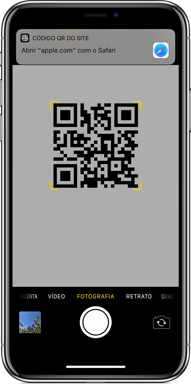 Ler um código QR com o iPhone, iPad ou iPod touch ...