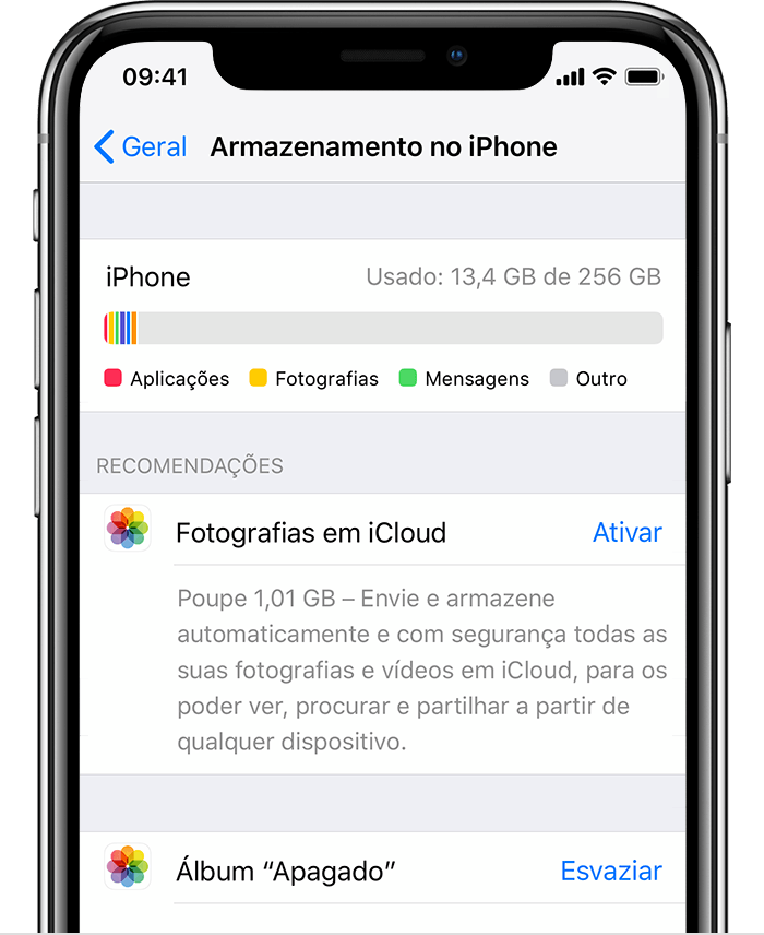 armazenamento do iPhone