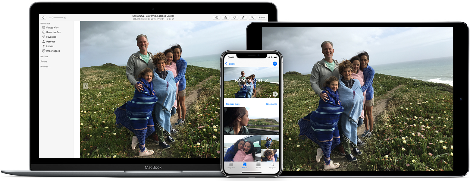 app Fotografias no Mac, iPhone e iPad