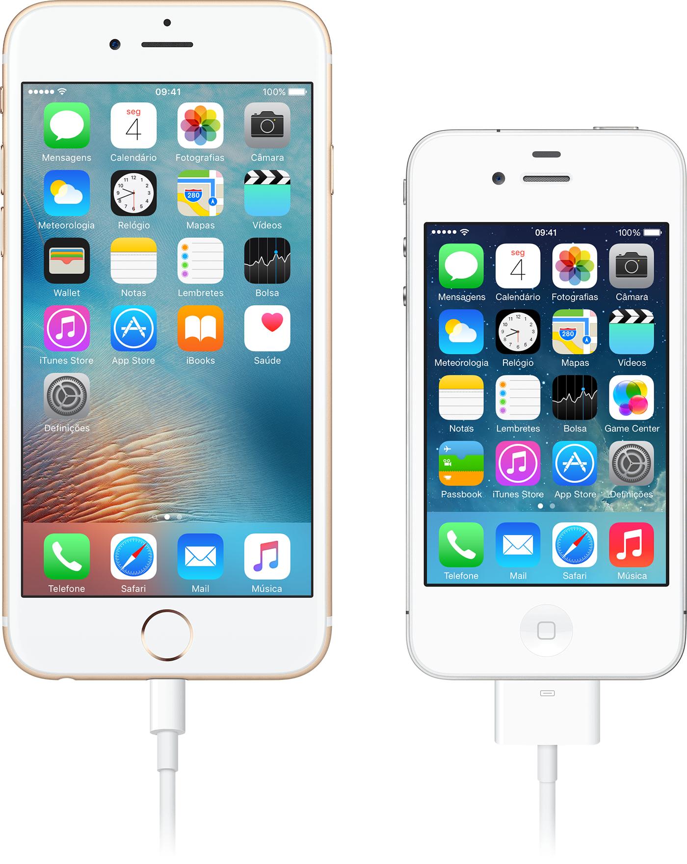 94455d933cc Ligue o adaptador AV digital ou VGA à porta de carregamento na parte  inferior do dispositivo iOS. Ligue um cabo HDMI ...