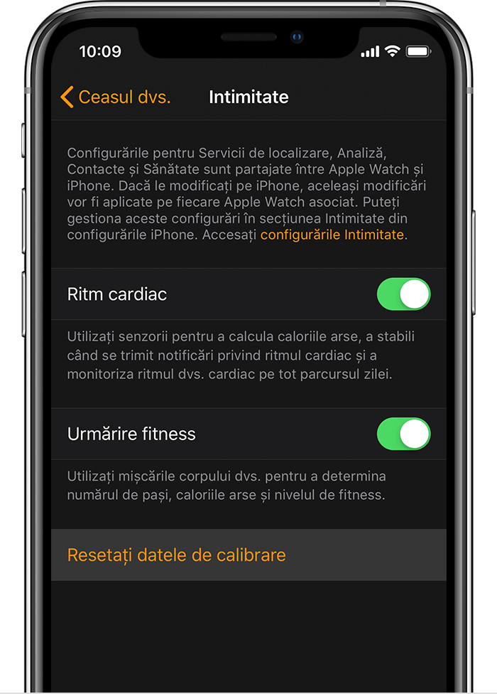 Configurări de confidențialitate pe iPhone